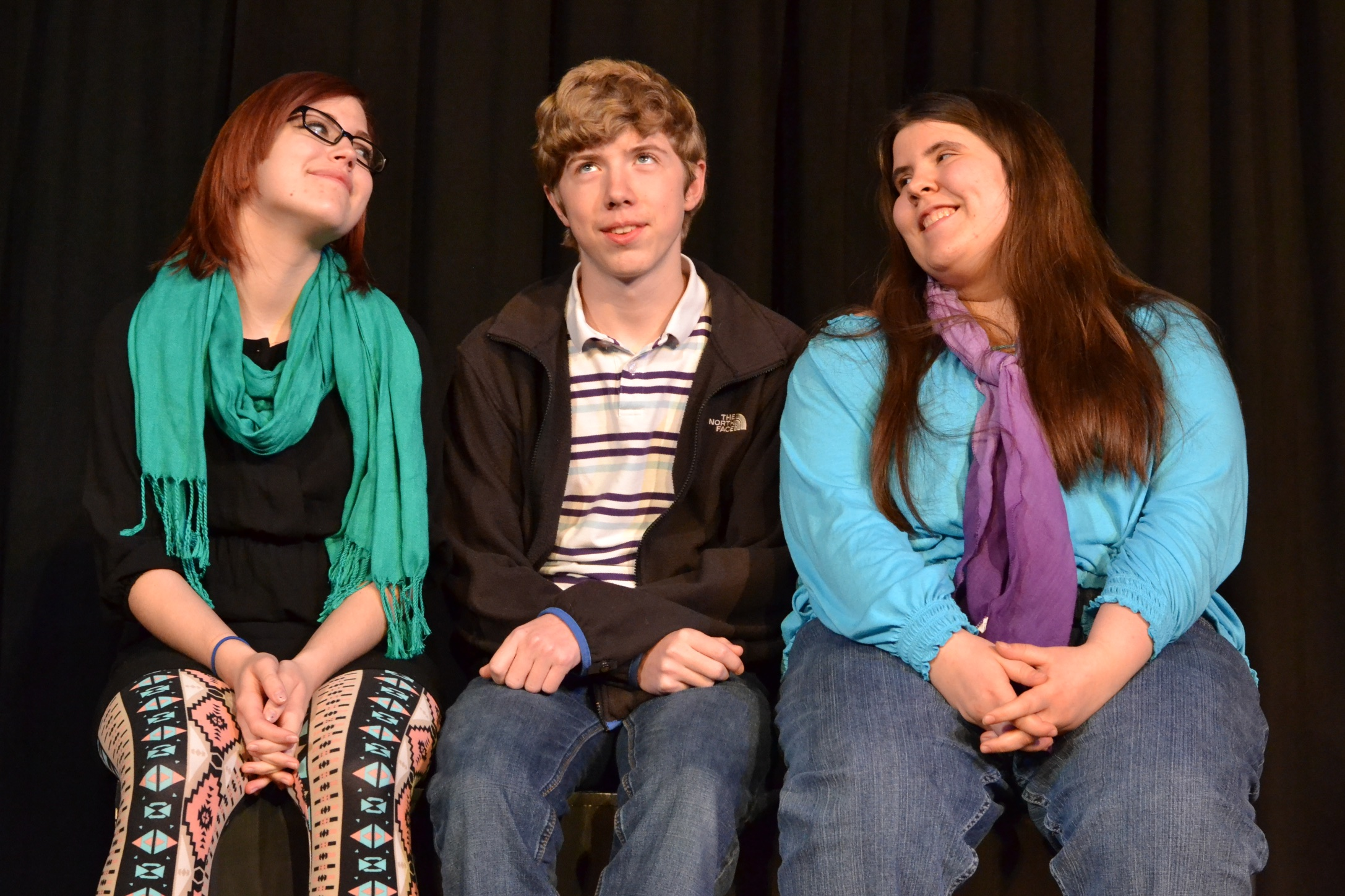 Jeremy, Jenny, and Julie from the Homer production of The Worst Play in the History of Ever