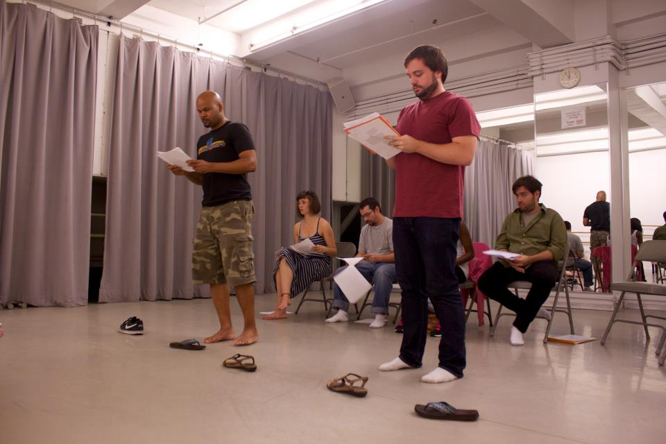 Distilled Theatre rehearsal